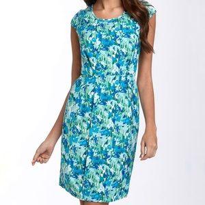 Calvin Klein Cap Sleeve Floral Sheath Dress